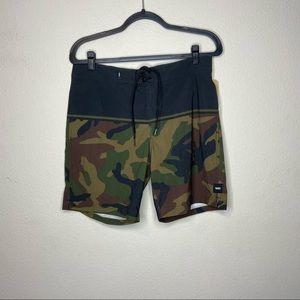 NWT VANS Black Camo Newland Board Shorts 31